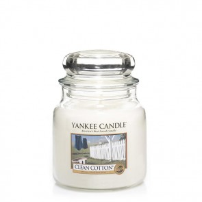 Yankee Candle Clean Cotton 411g - Duftkerze