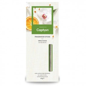 White Orchid Fragranced Sticks Caption