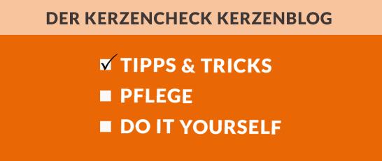 Banner Kerzenblog Tipps & Tricks