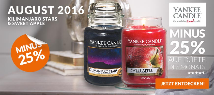 Yankee Candle Sale Slide